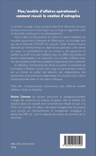 4eme Plan/modèle d'affaires opérationnel : comment réussir la création d'entreprise