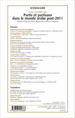 4eme Partis et partisans dans le monde arabe post-2011