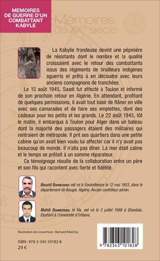 4eme Mémoires de guerre d'un combattant kabyle