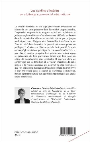 4eme Les conflits d'intérêts en arbitrage commercial international