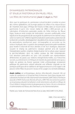 4eme Dynamiques patrimoniales et enjeux pastoraux en milieu peul