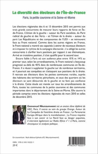 4eme La diversité des électeurs de l'Île-de-France