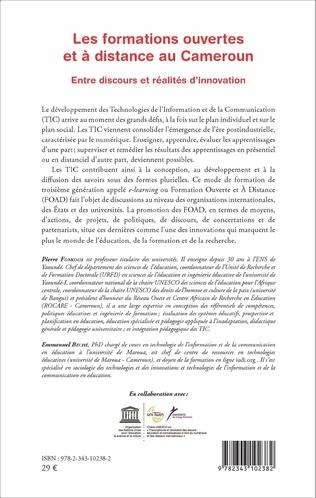 4eme Les formations ouvertes et à distance au Cameroun
