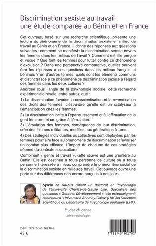 4eme Discrimination sexiste au travail : une étude comparée au Bénin et en France