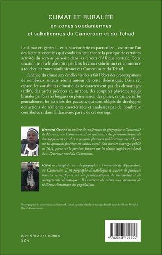 4eme Climat et ruralité en zones soudaniennes et sahéliennes du Cameroun et du Tchad
