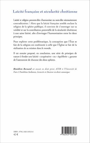 4eme Laïcité française et sécularité chrétienne