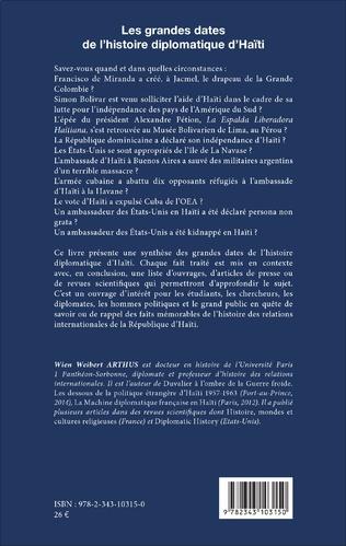 4eme Les grandes dates de l'histoire diplomatique d'Haïti