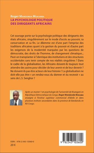 4eme La psychologie politique des dirigeants africains