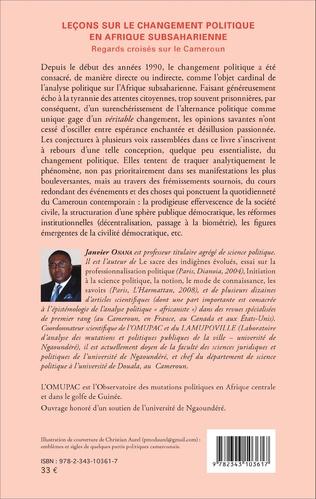4eme Leçons sur le changement politique en Afrique subsaharienne