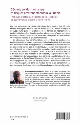 4eme Déchets solides ménagers et risques environnementaux au Bénin