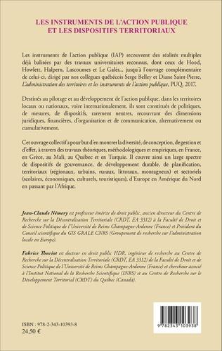 4eme Les instruments de l'action publique et les dispositifs territoriaux