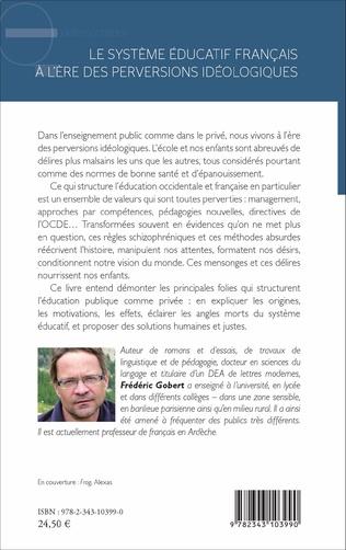 4eme Le système éducatif français à l'ère des perversions idéologiques