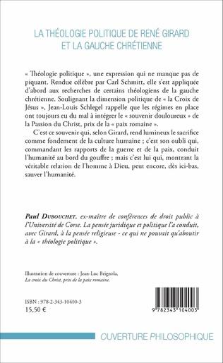 4eme La théologie politique de René Girard et la gauche chrétienne