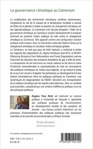 4eme La gouvernance climatique au Cameroun