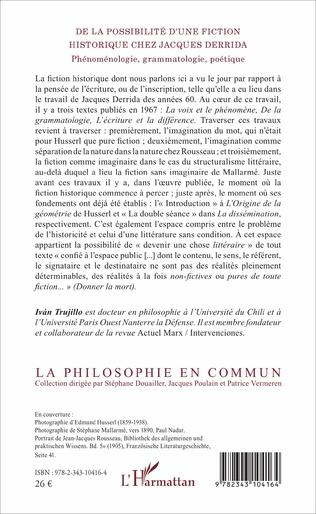 4eme De la possibilité d'une fiction historique chez Jacques Derrida