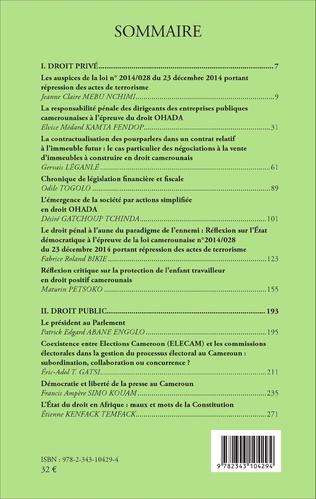4eme Revue africaine des sciences juridiques n°2 / 2016