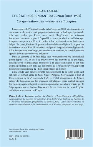 4eme Le Saint-Siège et l'État indépendant du Congo (1885-1908)