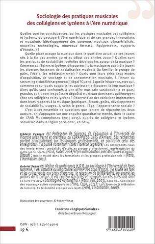 4eme Sociologie des pratiques musicales des collègiens et lycéens à l'ère numérique