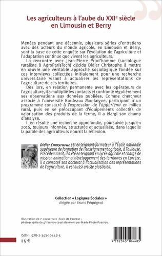 4eme Les agriculteurs à l'aube du XXIe siècle en Limousin et Berry