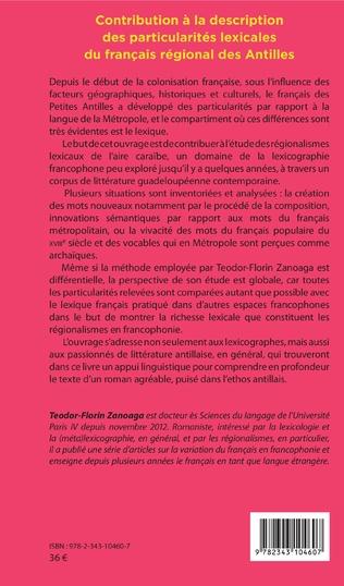 4eme Contribution à la description des particularités lexicales du français régional des Antilles