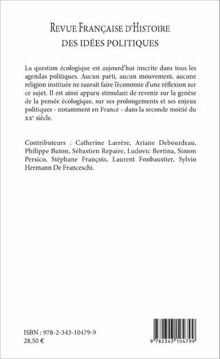 4eme REVUE FRANCAISE D'HISTOIRE DES IDÉES POLITIQUES - 44