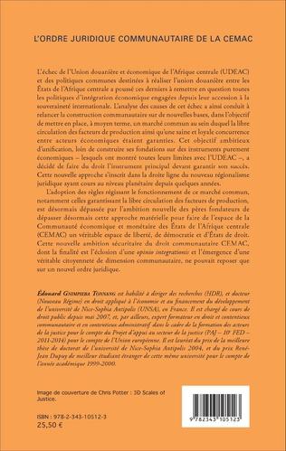 4eme L'ordre juridique communautaire de la CEMAC
