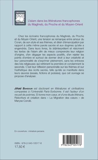 4eme L'islam dans les littératures francophones du Maghreb, du Proche et du Moyen-Orient