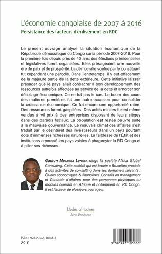 4eme L'économie congolaise de 2007 à 2016