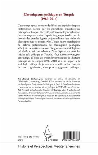 4eme Chroniqueurs politiques en Turquie (1980-2014)