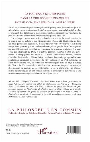 4eme La politique et l'histoire dans la philosophie française face au socialisme réel dans l'après-guerre