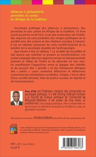 4eme Alliances à plaisanterie, proverbes et contes en Afrique de la tradition