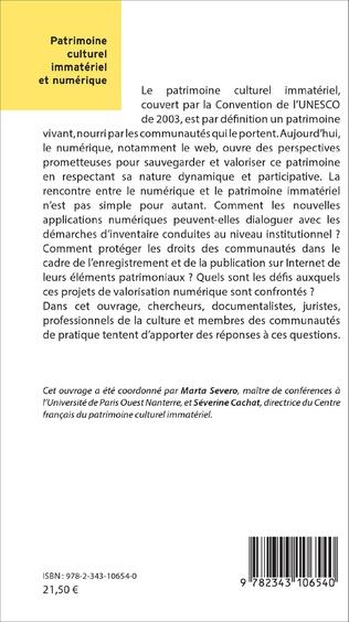 4eme Le patrimoine culturel immatériel et numérique