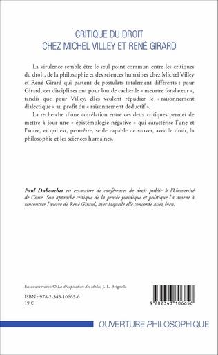 4eme Critique du droit chez Michel Villey et René Girard