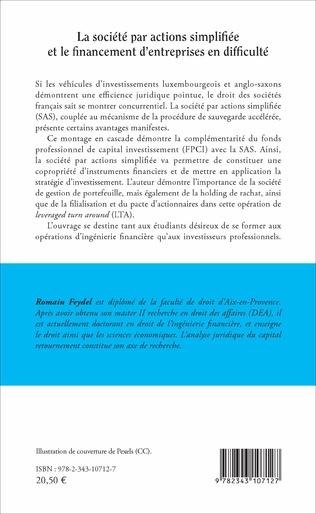 4eme La société par actions simplifiée et le financement d'entreprises en difficulté