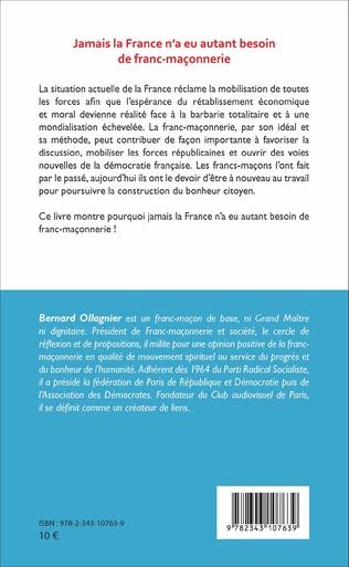 4eme Jamais la France n'a eu autant besoin de franc-maçonnerie