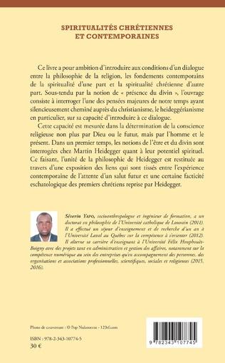 4eme Spiritualités chrétiennes et contemporaines