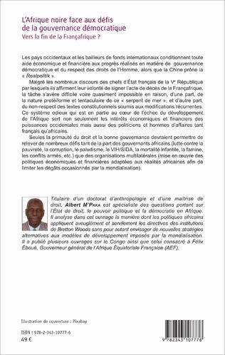 4eme L'Afrique noire face aux défis de la gouvernance démocratique