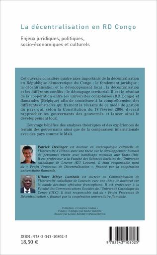 4eme La décentralisation en RD Congo