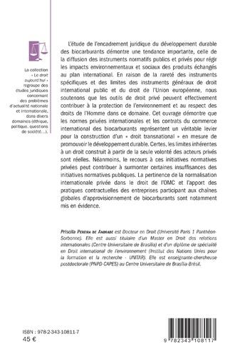 4eme Développement durable des biocarburants : objet d'un droit transnational