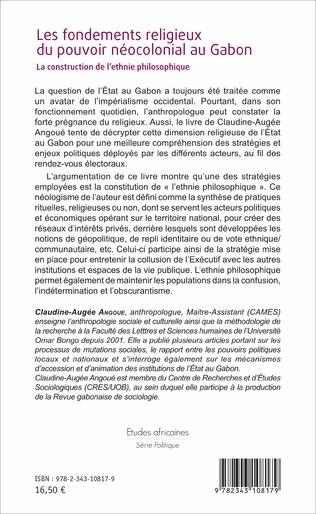 4eme Les fondements religieux du pouvoir néocolonial au Gabon
