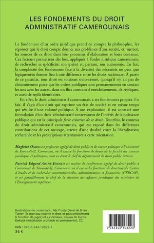 4eme Les fondements du droit administratif camerounais