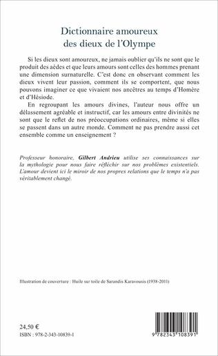 4eme Dictionnaire amoureux des dieux de l'Olympe