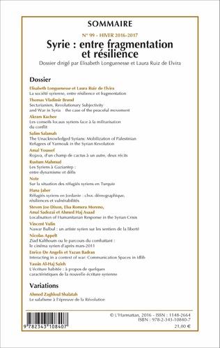 4eme Syrie : entre fragmentation et résilience