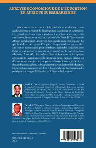 4eme Analyse économique de l'éducation en Afrique subsaharienne
