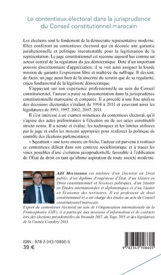 4eme Le contentieux électoral dans la jurisprudence du Conseil constitutionnel marocain