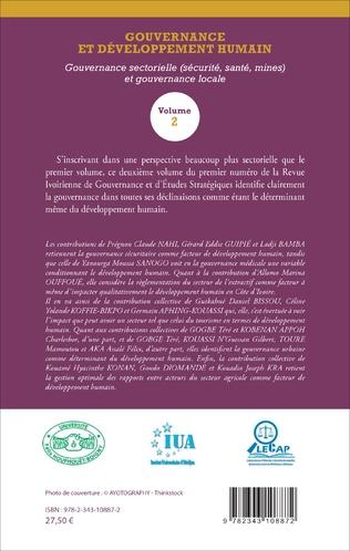 4eme Gouvernance et développement humain (Volume 2)