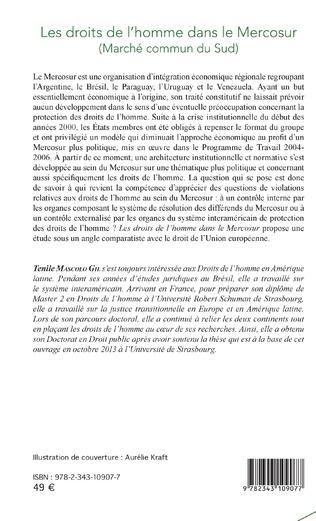4eme Les droits de l'homme dans le Mercosur