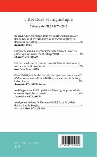 4eme Analyse stylistique de l'intermedialité dans la poésie d'Adiaffi et de Senghor