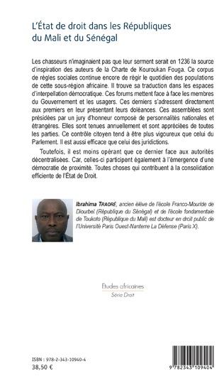 4eme L'Etat de droit dans les Républiques du Mali et du Sénégal