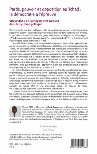 4eme Partis, pouvoir et opposition au Tchad: la démocratie à l'épreuve